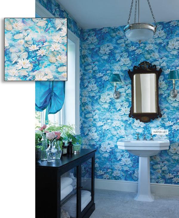 Osbourne & Little Water Lily wallpaper