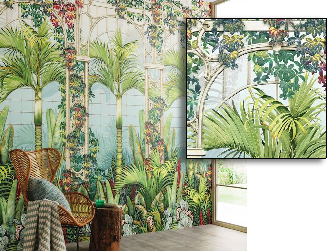 Osbourne & Little Mansfield Park Palm House wallcovering