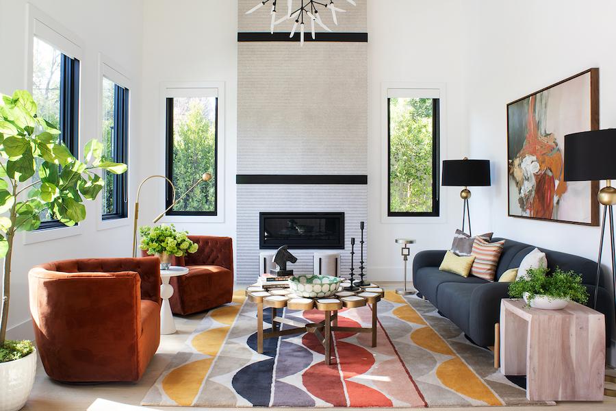 Lauren Jacobsen Interior Design, modern farmhouse living room