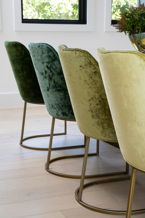 Lauren Jacobsen Interior Design, modern farmhouse, dining room chairs