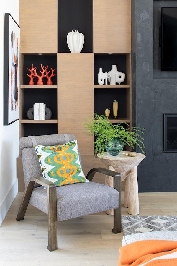 Lauren Jacobsen Interior Design, modern farmhouse, family room detail