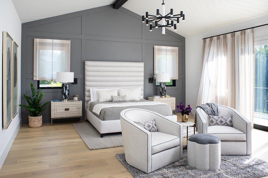 Lauren Jacobsen Interior Design, modern farmhouse, master bedroom