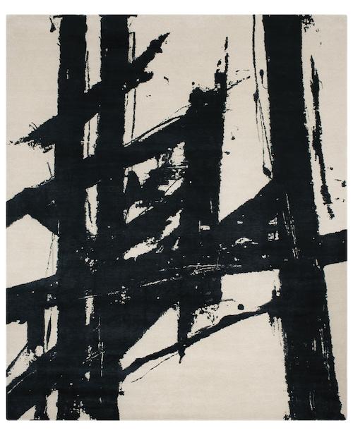 David E. Adler Monochrome Black rug