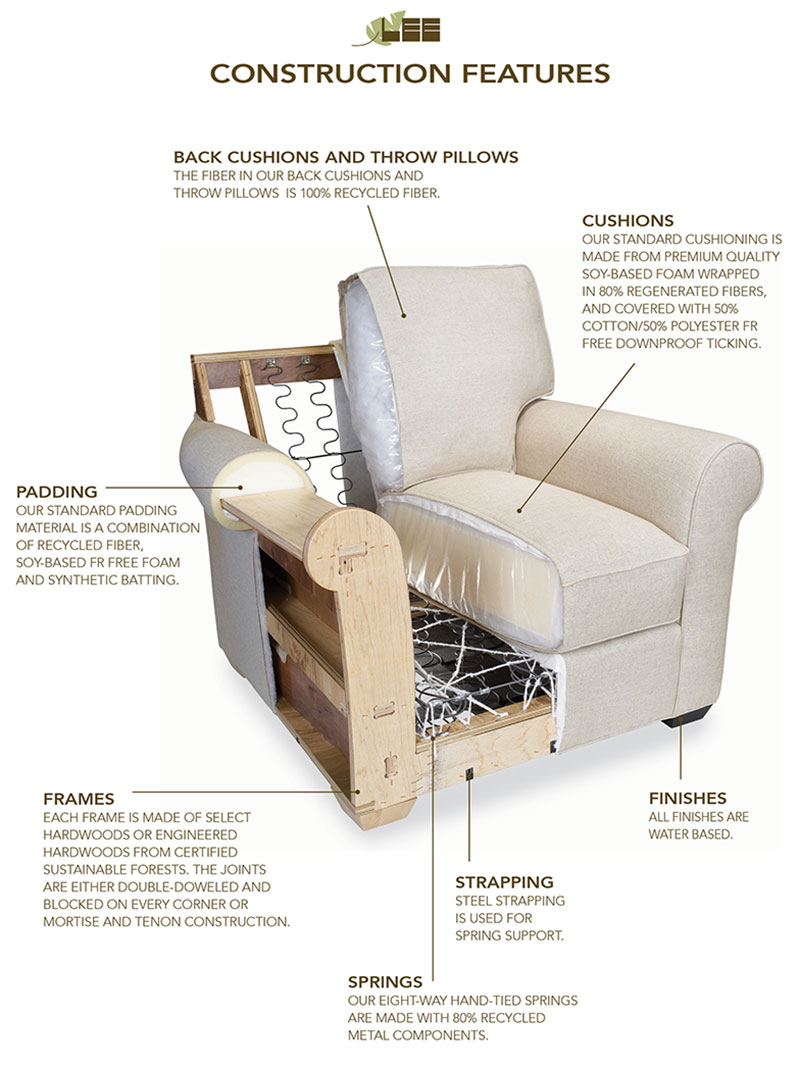 Lee Industries chair construction features